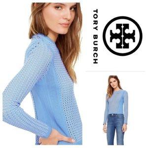 Tory Burch Sweater Honeycomb Blue